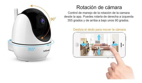 cámara ip 1080p hd wifi audio de 2 vías visión nocturna