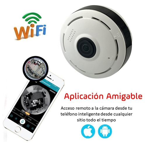 camara ip 360 grados wifi color/dia byn/noche sd interna
