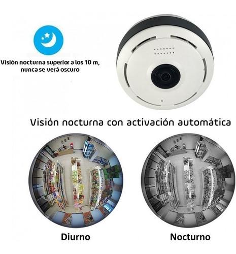camara ip 360 grados wifi color/dia byn/noche sd interna