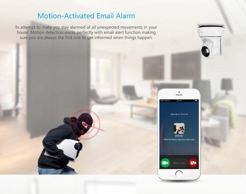 camara ip 720p wifi ptz movil inalambrica seguridad alarma