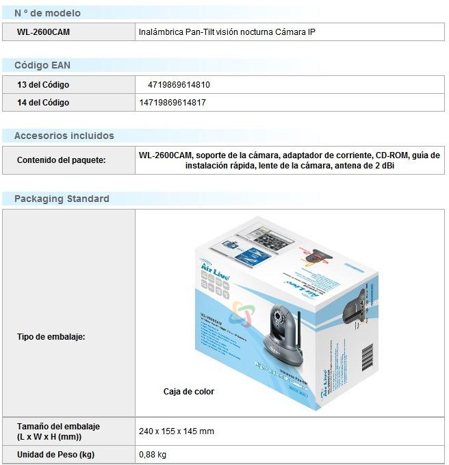 AirLive WL-2600 CAM IP 64 Bit