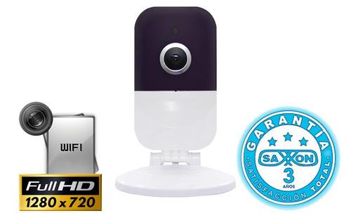 camara ip cubo saxxon 720p 1 mp120 grados wifi p2p audio