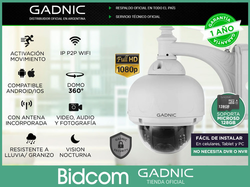 cámara ip de exterior domo motorizado p2p wifi infrarroja hd