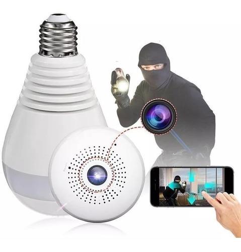 camara ip espia lampara foco wifi inalambrica seguridad hd