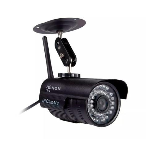 camara ip exterior 1mp pt negra, wifi 35led ev9330