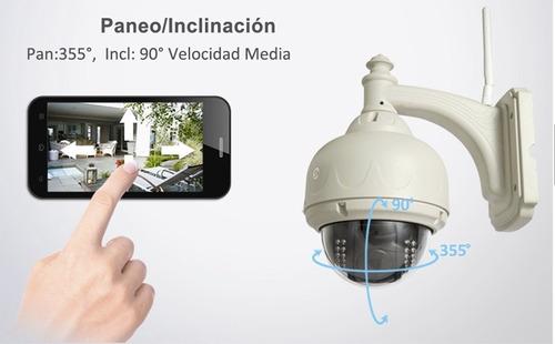 cámara ip exterior domo motorizado p2p wifi hd onvif.