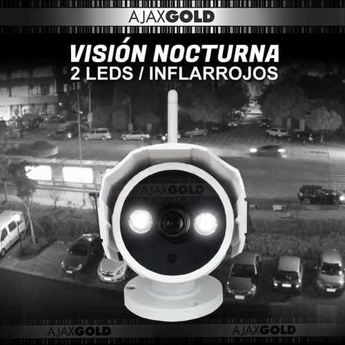 cámara ip exterior gadnic wifi p2p infrarroja hd 720p + 8gb