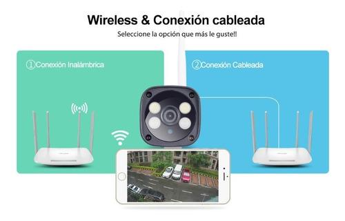 cámara ip exterior wifi hd 3mp -ir full color- audio 2 vías