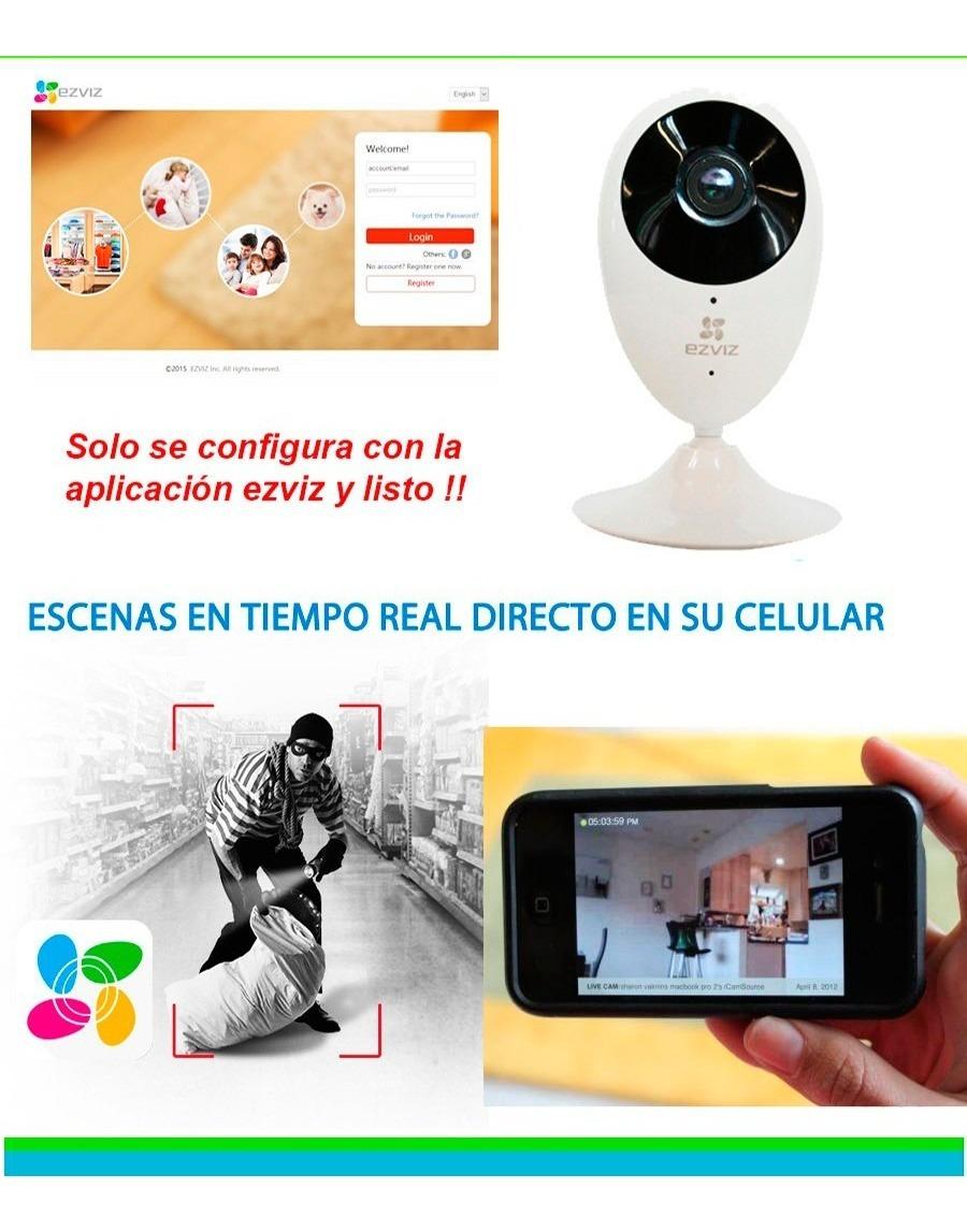 Camara Ip Ezviz 1mp 720p 2 8mm H 264 Audio De 2 Vias 5vdc