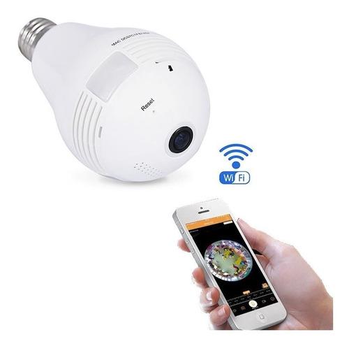 camara ip foco espia 360 wifi alarma audio video full hd seguridad vigilancia e27 alertas celular