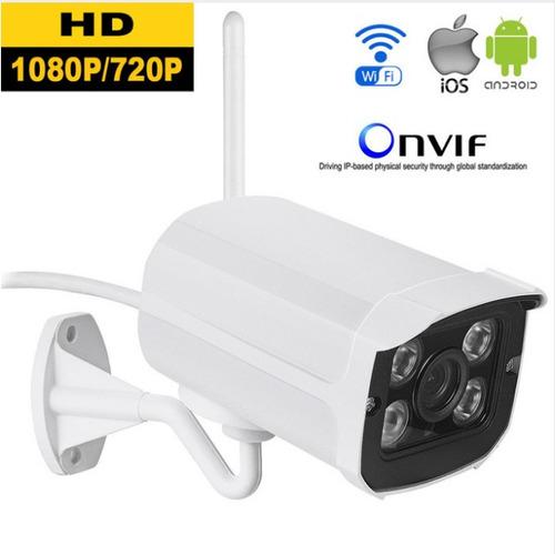 camara ip full hd wifi 1080p exterior slot sd card, ir, p2p