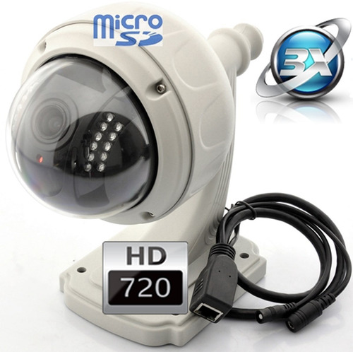 Camara ip hd inalambrica 4x zoom domo vigilancia exterior for Camara vigilancia inalambrica