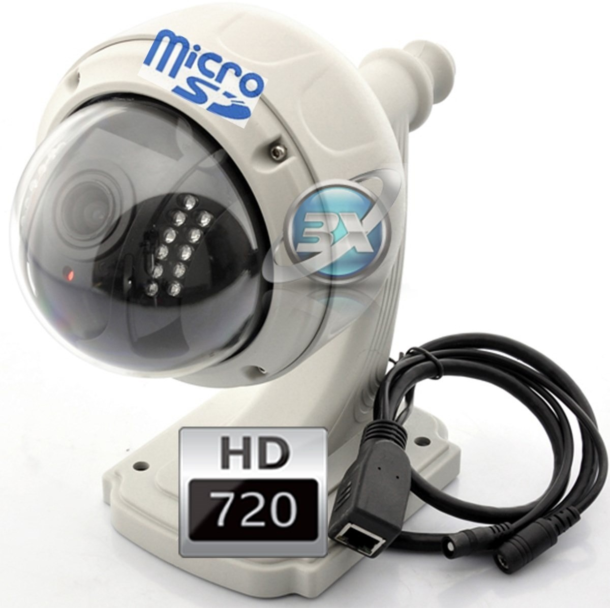 Camara ip hd inalambrica 4x zoom domo vigilancia exterior - Camaras de vigilancia ip ...