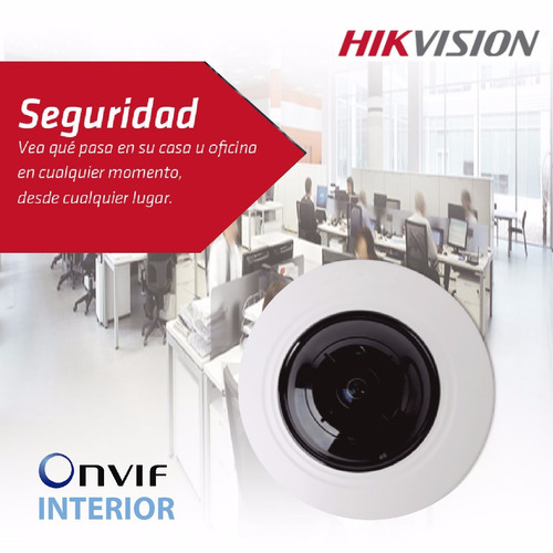 camara ip hikvision ojo de pez 4mp interior ds-2cd2942f poe