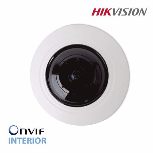 camara ip hikvision ojo de pez 4mp interior  ds-2cd2942f poe