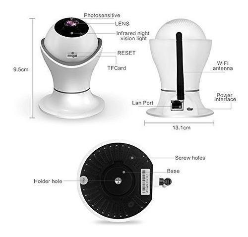 cámara ip inalámbrica hd 1080p de 360º vista panorámica 3d