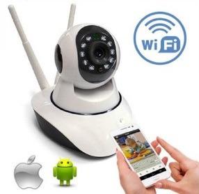 cámara ip inalambrica robótica wifi vigila en celular audio