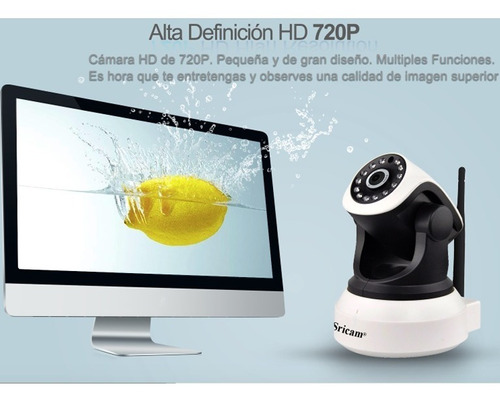 cámara ip interior domo motorizado p2p wifi hd onvif.