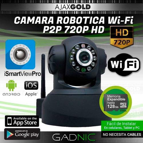 cámara ip p2p wifi inalámbrica infrarroja robótica seguridad