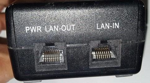 camara ip poe spliter ant-cortocircuito 48v para inyector