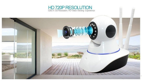 camara ip robotica 360 grados audio doble via, wifi