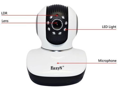 camara ip robotica wifi hd vision nocturna sensor movimie sd
