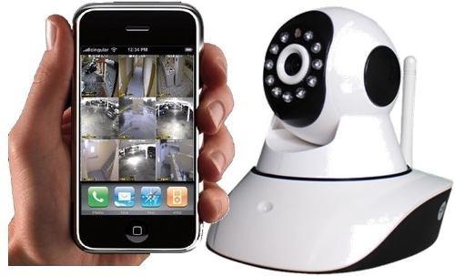 camara ip robotica wifi /infrarroja /alarma /micro sd /audio
