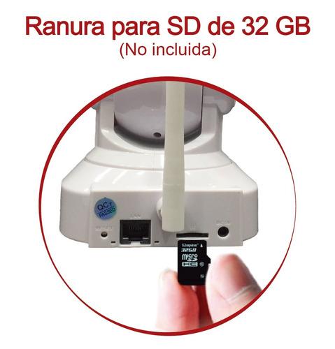 cámara ip seguridad wifi hd visión nocturna - ranura sd 32gb