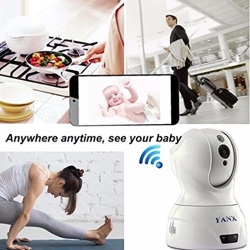 camara ip vigilancia monitor bebe doble via wifi full hd