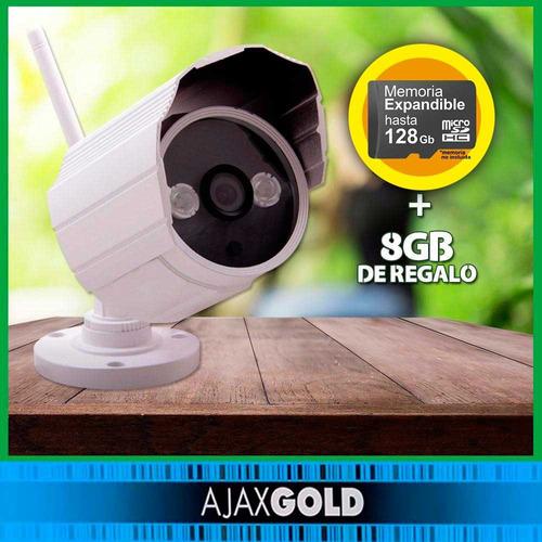 camara ip wifi exterior  interior p2p hd 8gb infrarroja 720p