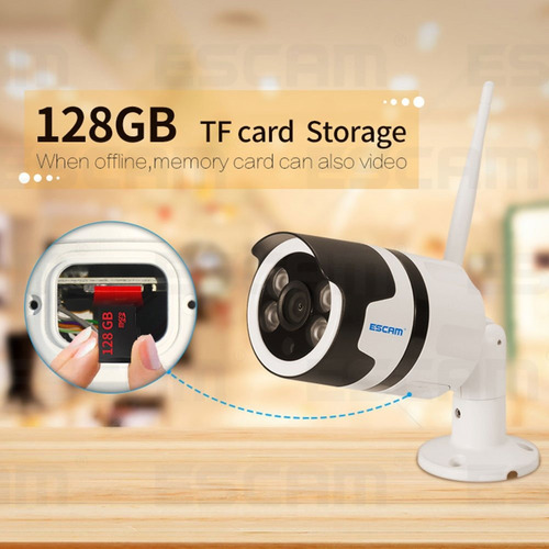 camara ip wifi exterior vigilancia hd 128 gb altavoz dvr