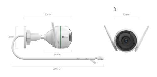 camara ip wifi ezviz full hd 1080p exterior mic sirena y luz