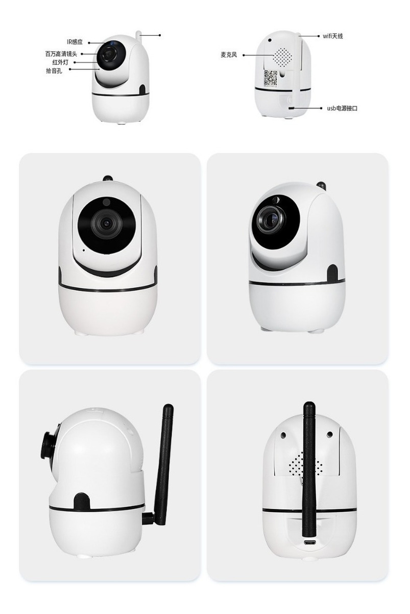 Cámara Ip Wifi Full Hd 1080p, 128gb Gira Interior App Ycc365