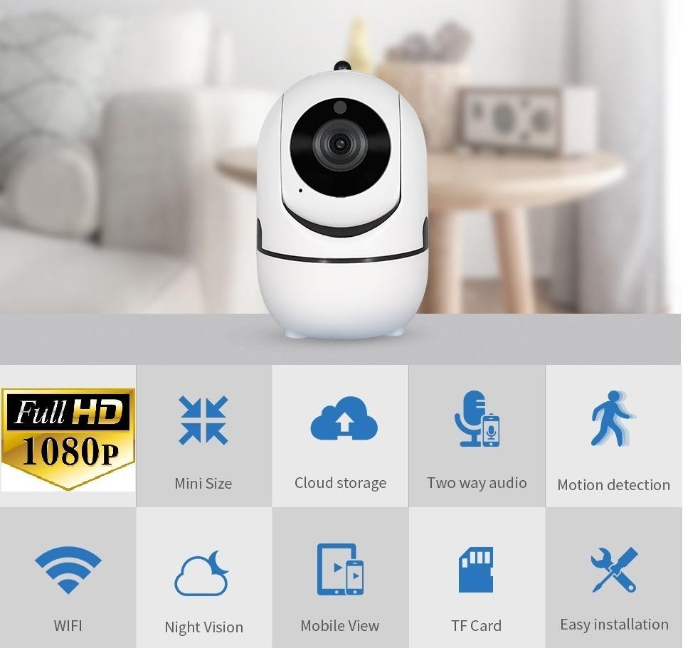 Cámara Ip Wifi Full Hd 2mp 128gb Sigue Movimiento App Ycc365