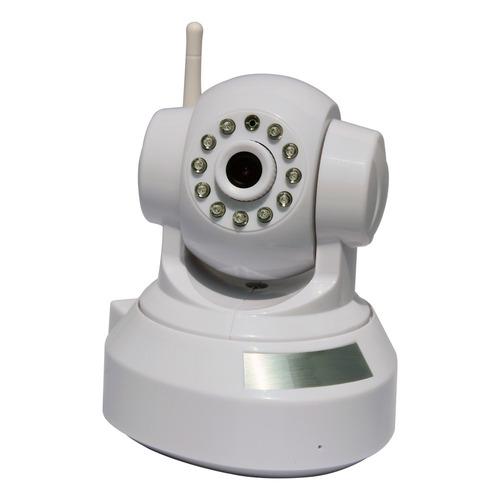 camara ip wifi motorizada micro sd, hd 1mpx, blanca ev9328