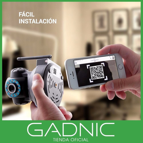 camara ip wifi seguridad p2p infrarroja motorizada audio hd