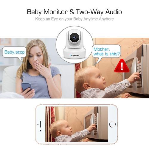 cámara ip wifi vstarcam, cámara de inicio panorámico de 720p