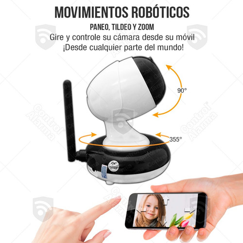 camara ip zoom 3x wifi dvr interno alarma casa  hd msi