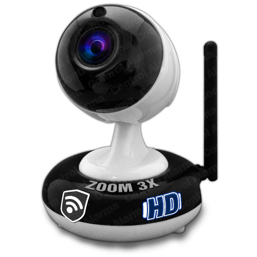 camara ip zoom 3x wifi dvr interno alarma casa negocio hd