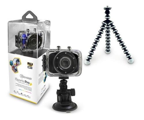 cámara isport + trípode anatómico + spinner