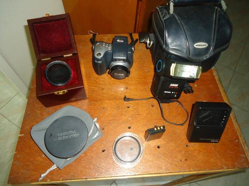 camara kodak con accesorios
