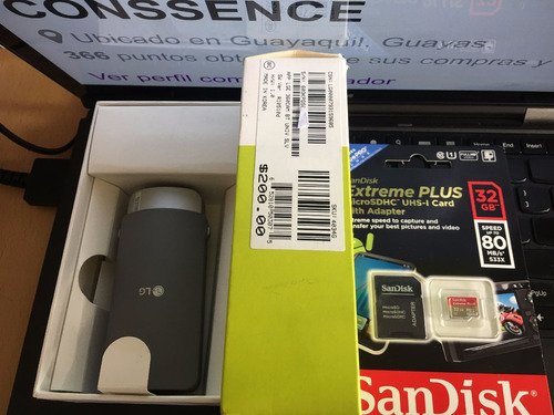 camara lg 360 2k + 32gb sandisk extreme caja abierta nsse