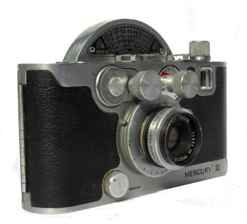 camara mercury 2, 35mm, 1945, obturando, estuche original.