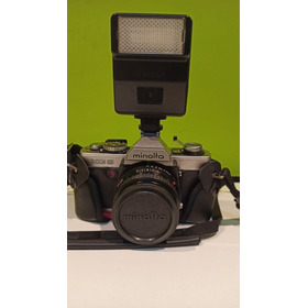 Cámara Minolta Xg9 Rokkor Md 45mm F2 Estuche + Flash Cannon