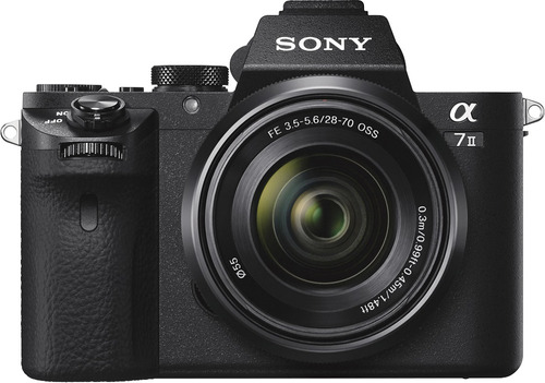 cámara mirrorless sony alpha a7 ii de full frame con lente