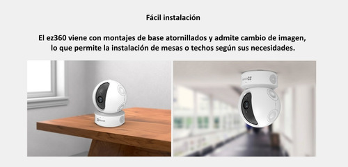 cámara motorizada 360 ezviz hikvision  domo ptz - electrocom