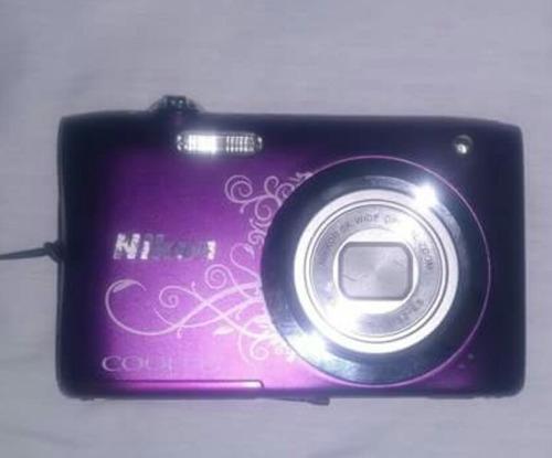 cámara nikon coolpix a100 21pix color purpura