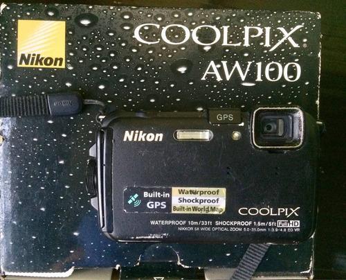 cámara nikon coolpix aw100. waterproof