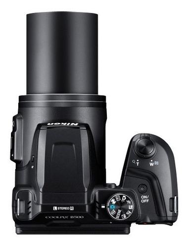 cámara nikon coolpix b500 negro + memoria sd 16gb + maletìn