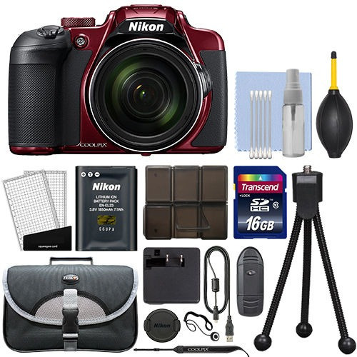 camara nikon coolpix b700 20.2mp 4k digital 60x zoom + kit